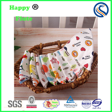 HappyFlute 100% cotton baby bibs double print baby bids wholesales with factory price