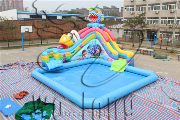 Octopus water park, inflatable water park pool slide, Small inflatable octopus water park for sale !!!