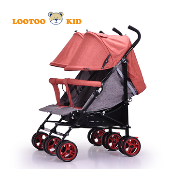 Alibaba china manufacturer supply cheap price multifunctional double seat twin baby car stroller