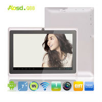 "cheap best tablet with webcam tablet kindle fire hdx7"" 512mb 4gb tablet allwinner a13 1.2ghz cpu firmware q88"