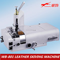 Round knife leather skiving machine WB-801 cutting leather machine