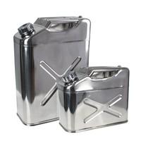 stainless steel jerry can 20L, gasoline can, fuel can