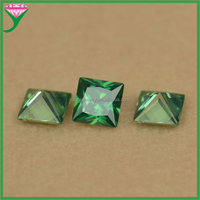square princess cut cz wholesale cheap price synthetic ceylon decor emerald green gem stone
