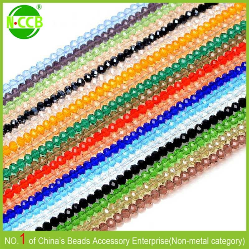 High Quality Clear Czech Crystal Faceted crystal beads in bulk