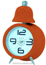 Pretty single bell alarm quartz alarm clock