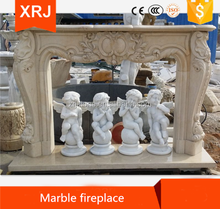 Cultured and artificial marble fireplace molds