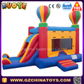 outdoor playground inflatable bouncy combo with slide and castle