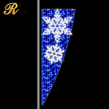 Outdoor decorative christmas led street light motif