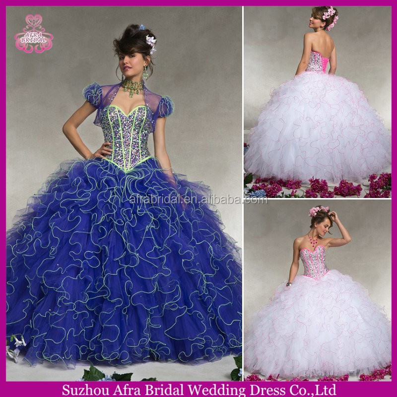 QQ447 blue quinceanera dresses pink and white quinceanera dresses gowns