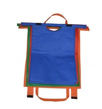 set of 4 pcs colorful for shopping foldable reusable shopping bag Non-woven supermarket shopping trolley cart bags