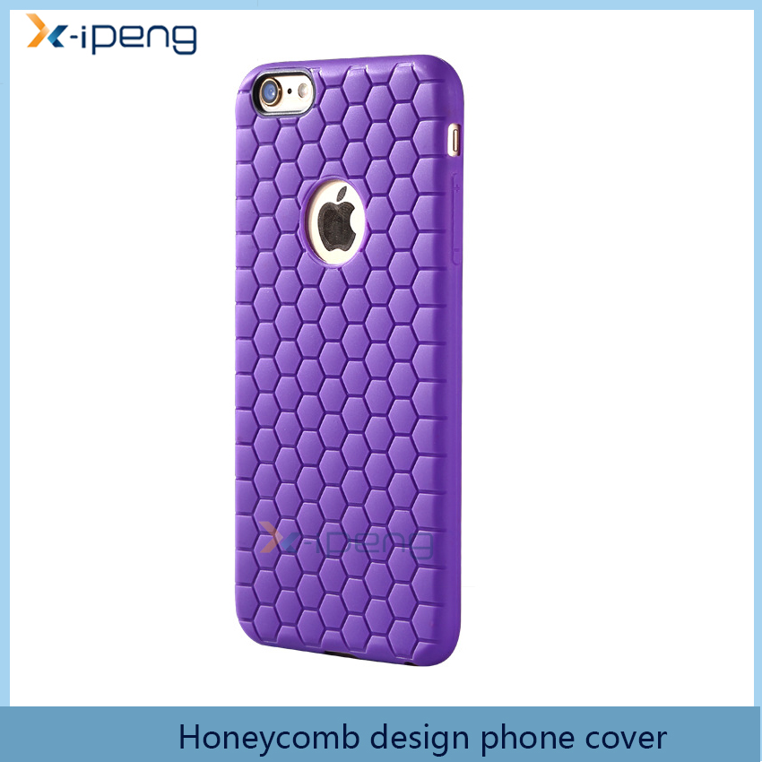 latest 5g mobile phone Honey comb design silicon smartphone back cover case for iphone 6s plus