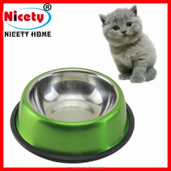Wholesale stainless steel cat food pet bowl-15 cm