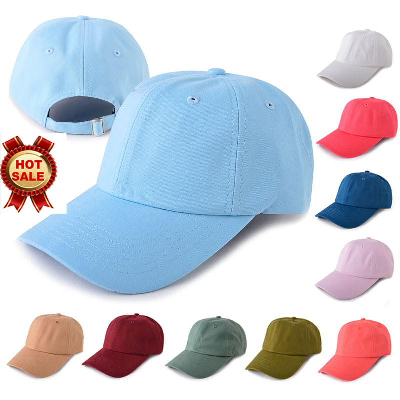 6 panel oem cotton wholesale blank plain baseball dad hat caps men