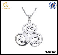 "Sterling Silver Celtic Knot Triple Dragons Pendant Necklace, 18"" boxes necklace"