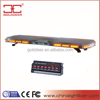Ultra- slim LED Emergency Amber Warning Lightbar with Speaker (TBD07926-20a-S)