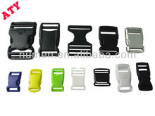 Promotional colored plastic quickly side release buckle for backpack/luggage/bag