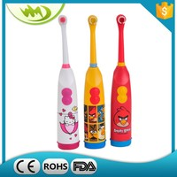 Yellow animal print automatic electric toothbrush motor