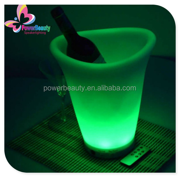 garden party use lighting wine holder plastic glowing colorful buckets barware