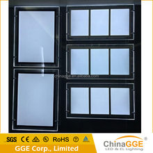 Cable hanging 5000Lux led ceiling light box kit for led window sign real estate display