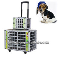 aluminum trolley Pet Carrier /case