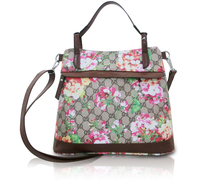 Floral Printing Pattern Lady Handbag PVC Leather Crossbody Bag