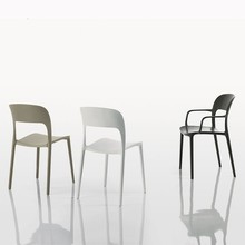 Plastic Stacking Chair Home <strong>Furniture</strong> General Use and Modern Appearance plastic chair Stack new design plastic chair