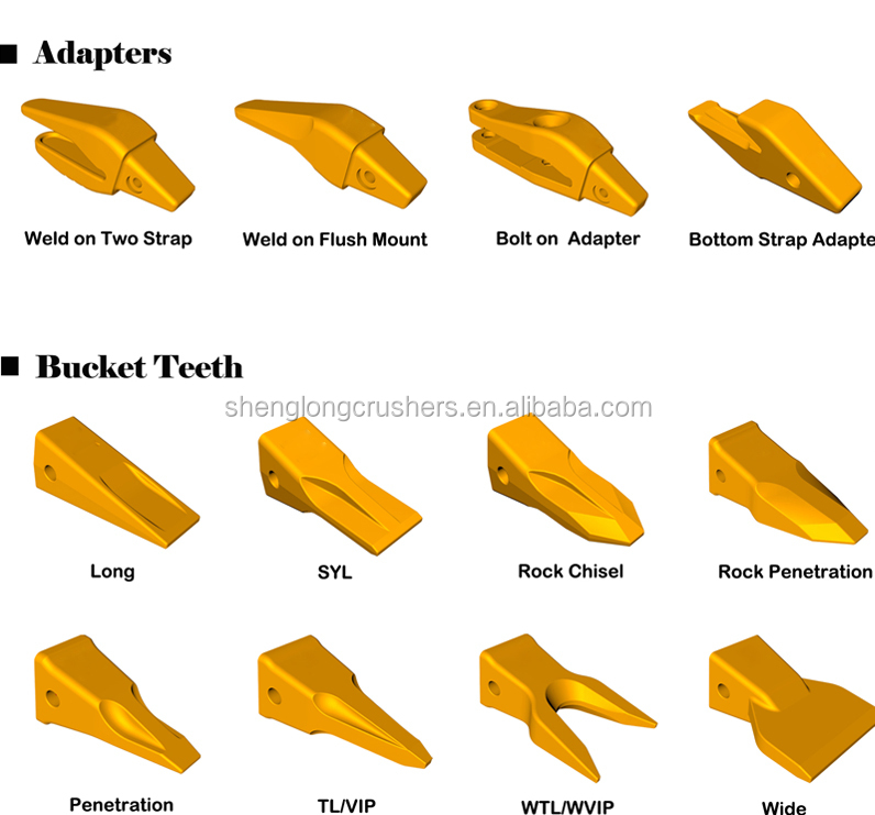 Engine Parts E325 Bucket Teeth Excavator Bucket Tips
