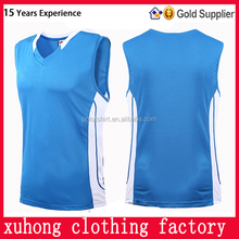 Export garment from shenzhen logo design OEM breathable sport cool stylish basketball wear for youth team