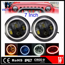"Car accessories 2016 45W 3000lm 7"" led headlight 4x4 off road led headlamp for tractors,auto parts,ATV"