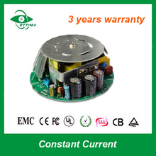 open frame round shape output power 50w constant current 1.2a 1a 0-10v triac dimmable led driver isolated for led bulb