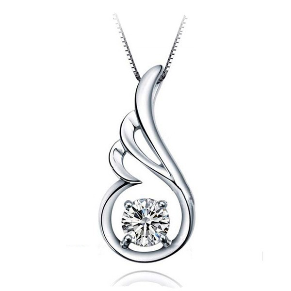 Hot Toy Guitar Pure Cute Angel Feather Shaped Pave Diamond <strong>Pendant</strong> for Necklace