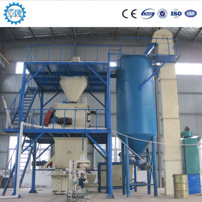 Latest Chinese product CE certificate turn key solution automatic construction machinery of dry mortar mixer supplier
