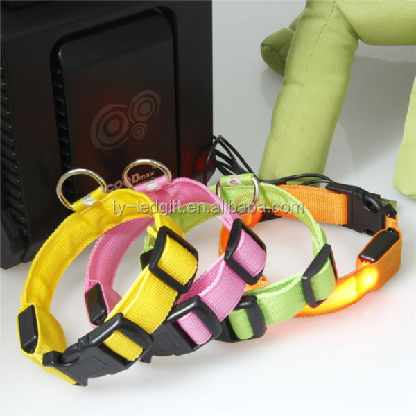 usb waterproof dog collar recharge led dog collar with usb