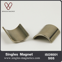 China Sintered Rare Earth Neodymium Arc Segment Magnets For Dc Motor Generator