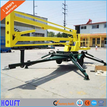 Hot sale 10m lifting height mobile articulated towable boom lift/truck mounted hydraulic folding arm lift platform