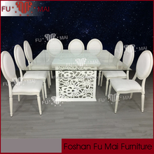 carving wood base cheap tables and chairs for rent LED lighting