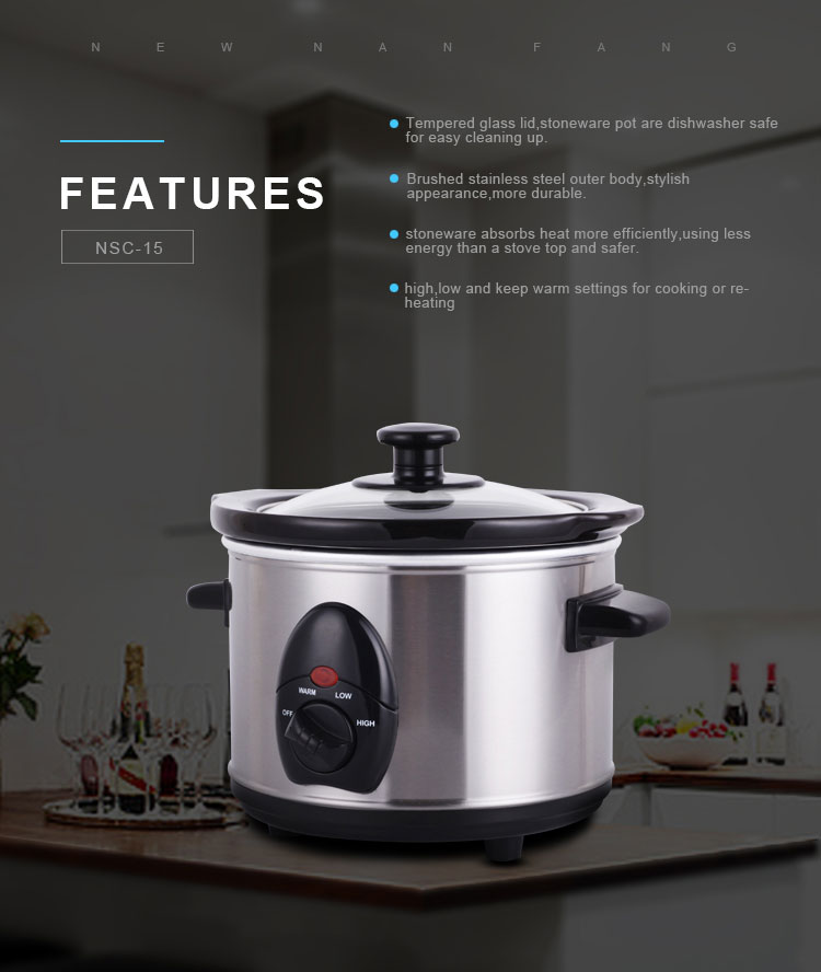 Turkey efficiency sous vide in slow cooker lowest price regal crock pot shop 1.5qt Round Stainless Steel Slow Cooker