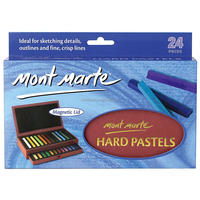 Mont Marte Hard Pastels in 2 Drawer Magnetic Box 24pce