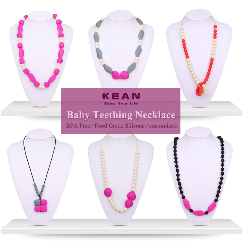 Nice Than Fake Cold Jewelry India Silicone Bead Necklaces With Color Stone