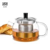 SAMADOYO 470ML Small Glass Teapot With Infuser With Metal Lid For Sale