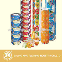 PP/PE/PS/PET plastic jelly cup sealing film with logo printing