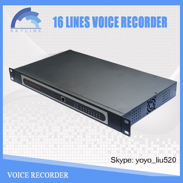 16 CH telephone call record by USB phone voice recorder box