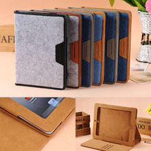 Retro jeans style fashion tendency leather flip case for ipad mini