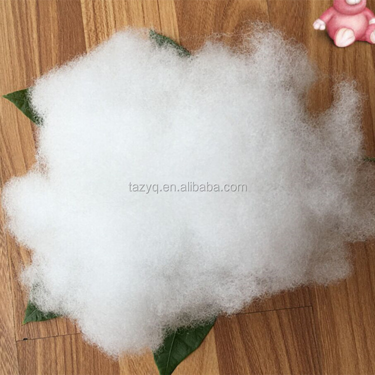 virgin PSF 7D hollow conjugated non siliconized polyester hollow fiber for polyester padding
