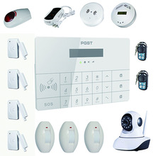 simple safe home alarm self monitoring wireless alarm system with Android&IOS APP / touch screen monitor