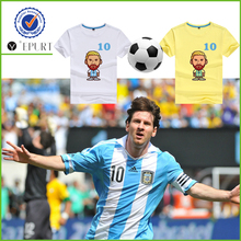 2018 Russia football world cup fans cartoon messi t shirt
