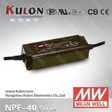 MEAN WELL 40W LED DRIVER NPF-40D-15 rainproof constant current outdoor lighting power supply