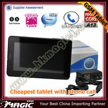 7 inch tab pc with sim card slot