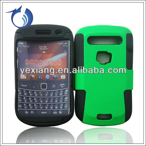 Hybrid material cell phone cover for blackberry 9900 cases