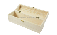 Cuboid Wood Remote Storage Box